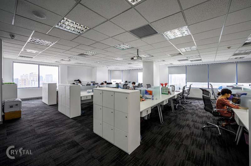 thiết kế văn phòng 100m2 đẹp