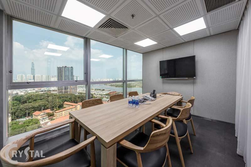 thiết kế văn phòng 100m2 hiện đại