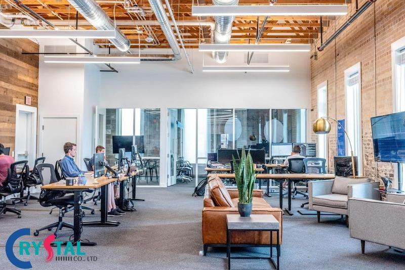 thiết kế văn phòng cao cấp - Crystal Design TPL
