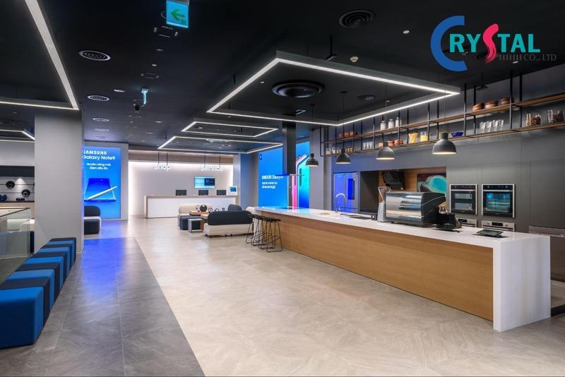 thiết kế văn phòng cao tầng - Crystal Design TPL