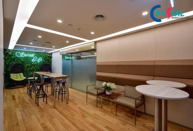 thiết kế văn phòng cây xanh - Crystal Design TPL
