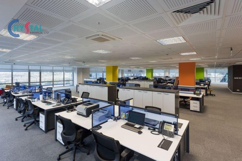 thiết kế văn phòng cho thuê đẹp - Crystal Design TPL