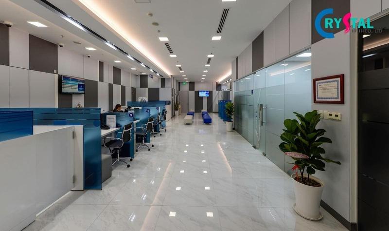 thiết kế văn phòng cho thuê - Crystal Design TPL