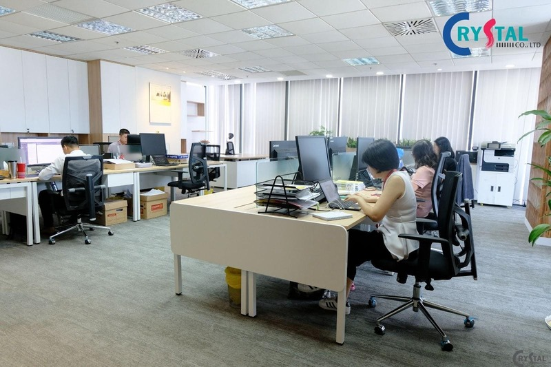 thiết kế văn phòng công ty bds - Crystal Design TPL