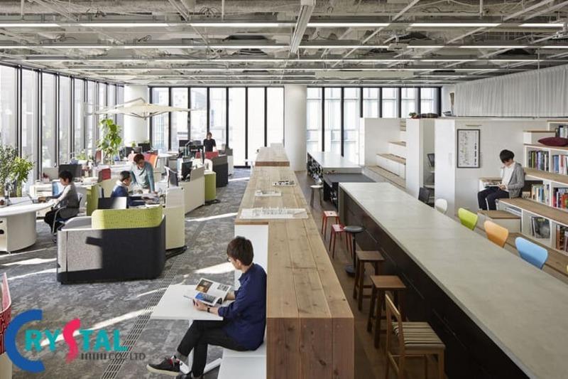 thiết kế văn phòng công ty - Crystal Design TPL