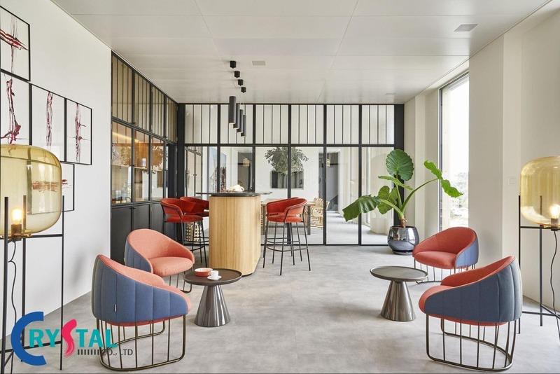 thiết kế văn phòng đại diện ấn tượng - Crystal Design TPL
