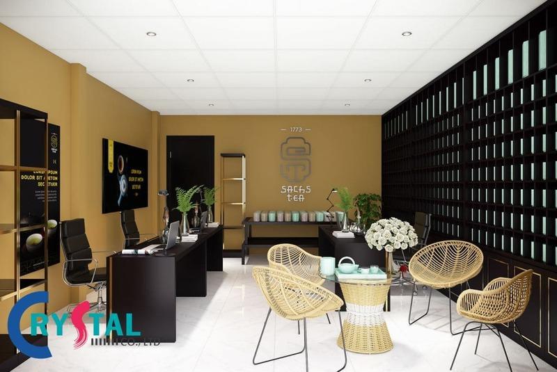 thiết kế văn phòng đại diện hiện đại - Crystal Design TPL