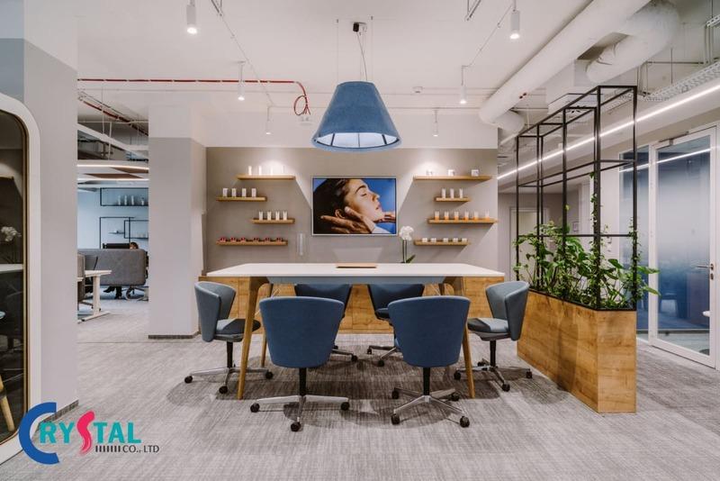 thiết kế văn phòng đại diện sang trọng - Crystal Design TPL