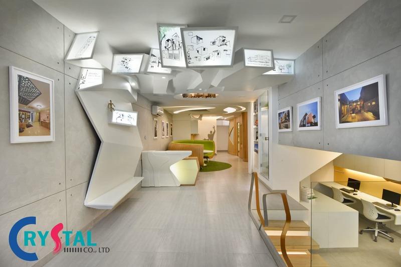 thiết kế văn phòng đẹp hiện đại - Crystal Design TPL