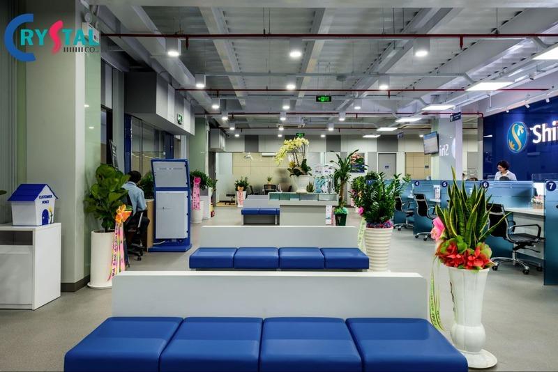 thiết kế văn phòng giao dịch đẳng cấp - Crystal Design TPL