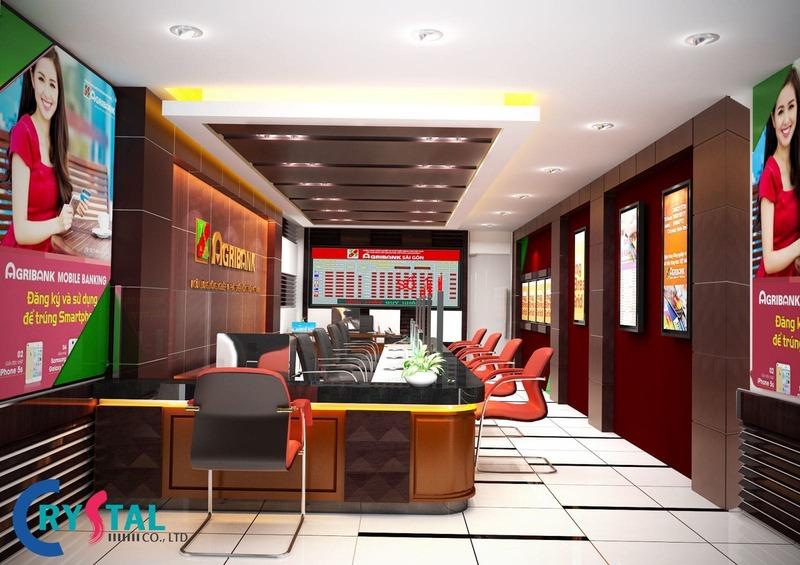 thiết kế văn phòng giao dịch sang trọng - Crystal Design TPL