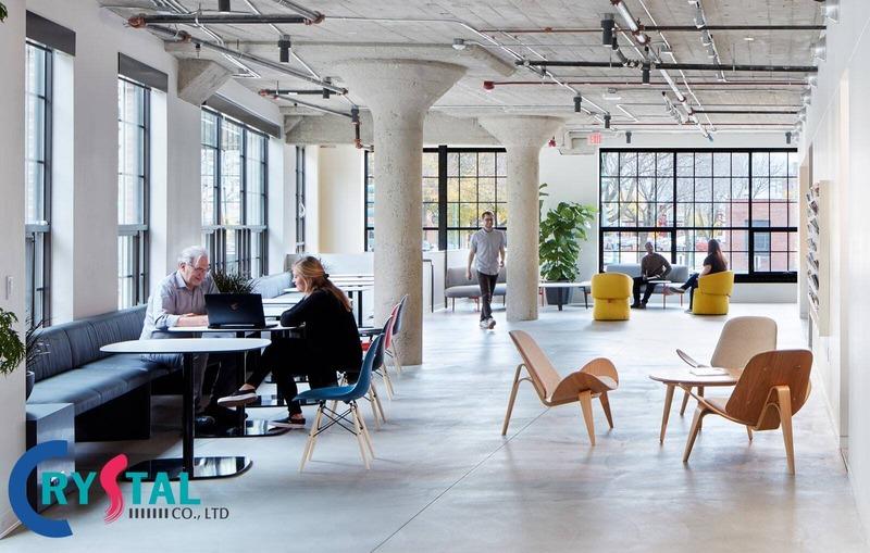 thiết kế văn phòng kiến trúc - Crystal Design TPL