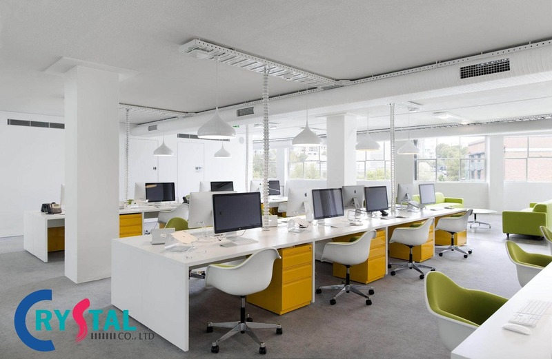thiết kế văn phòng làm việc đẹp - Crystal Design TPL