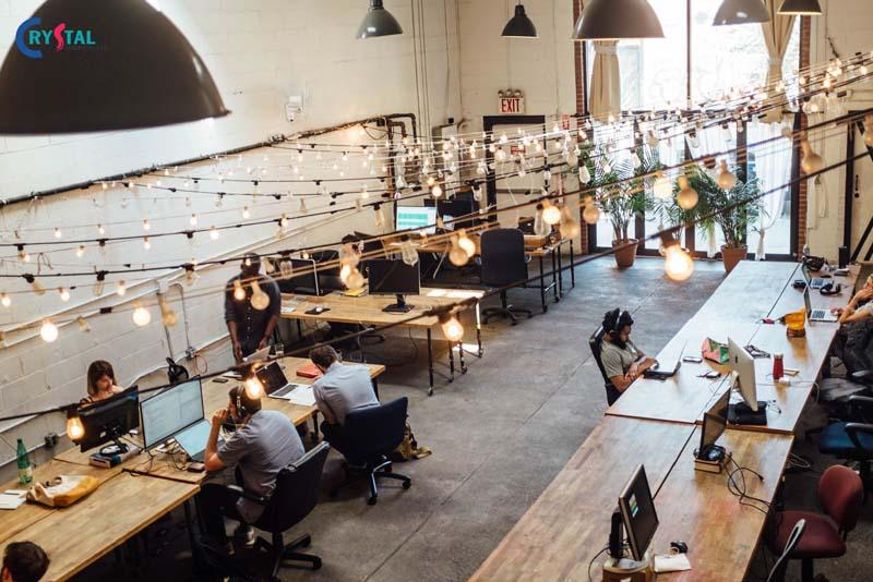 thiết kế văn phòng làm việc không gian mở