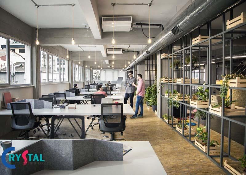 thiết kế văn phòng theo xu hướng hiện đại - Crystal Design TPL