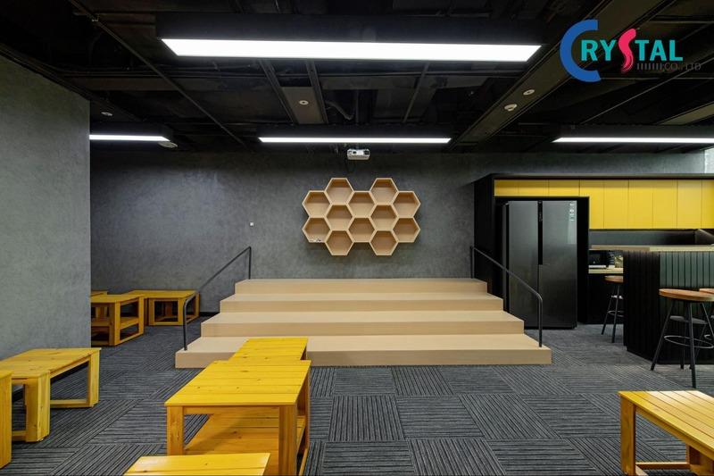 thiết kế văn phòng xanh đẹp - Crystal Design TPL