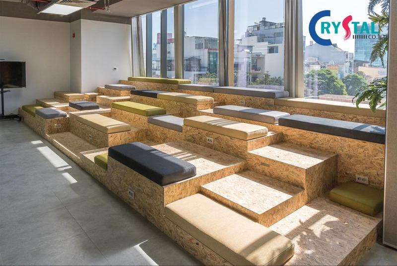 thiết kế văn phòng xanh thân thiện - Crystal Design TPL