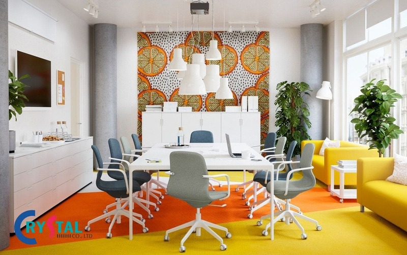 tiêu chuẩn thiết kế diện tích phòng họp đẹp - Crystal Design TPL