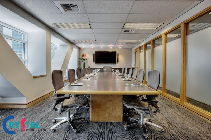 tiêu chuẩn thiết kế phòng họp hiện đại - Crystal Design TPL