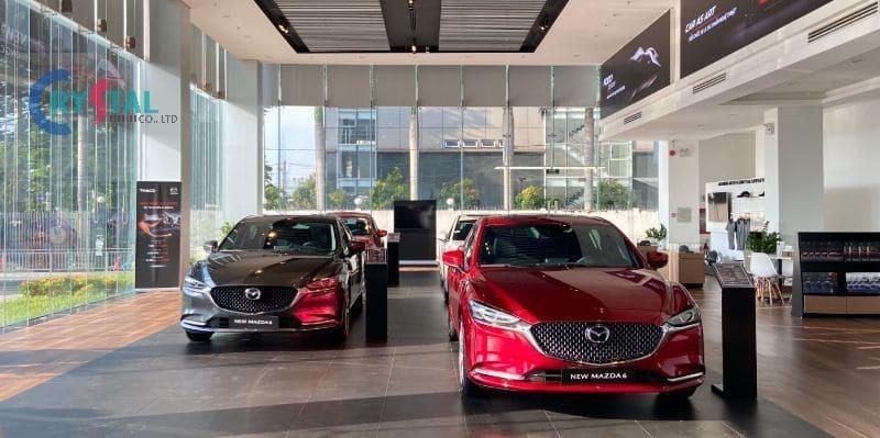tiêu chuẩn thiết kế showroom ô tô - Crystal Design TPL