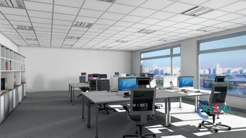 trang trí nội thất phòng làm việc tại nhà - Crystal Design TPL