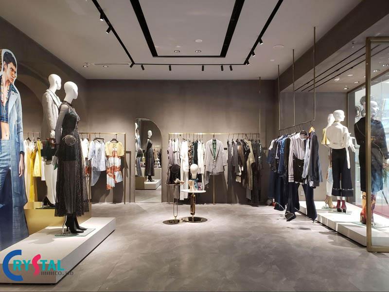 trang trí nội thất shop thời trang - Crystal Design TPL