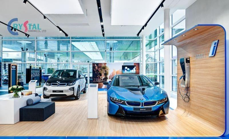 trang trí nội thất showroom ô tô đẹp - Crystal Design TPL
