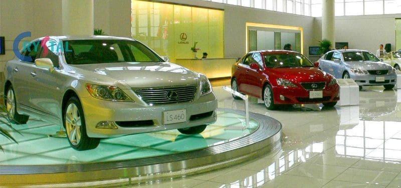 trang trí nội thất showroom ô tô - Crystal Design TPL