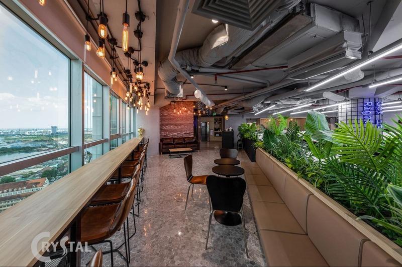 trang trí nội thất văn phòng đẹp - Crystal Design TPL