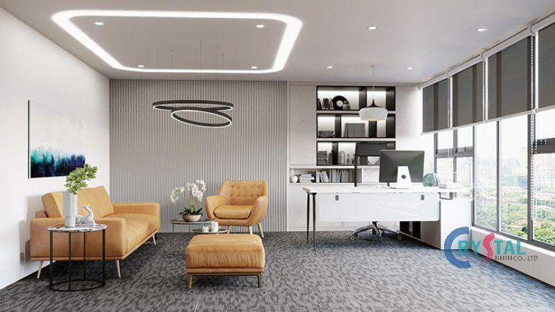 trang trí phòng làm việc đẹp mắt - Crystal Design TPL