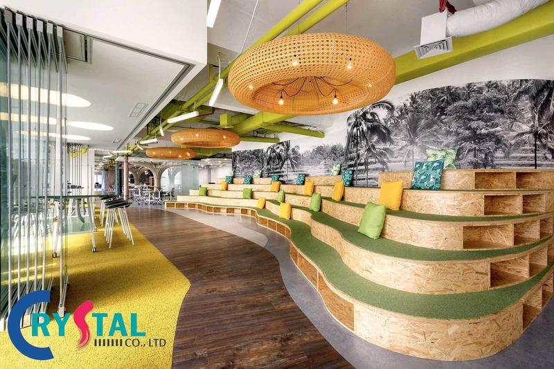 trang trí phòng làm việc đẹp - Crystal Design TPL