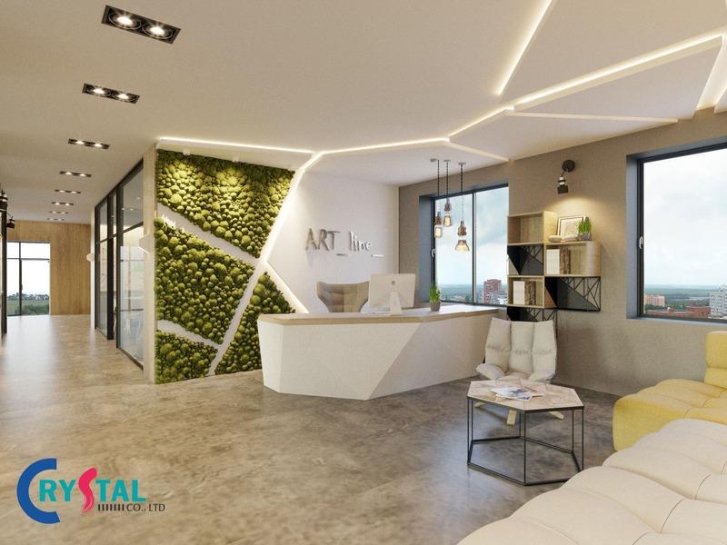 văn phòng đại diện đẹp - Crystal Design TPL
