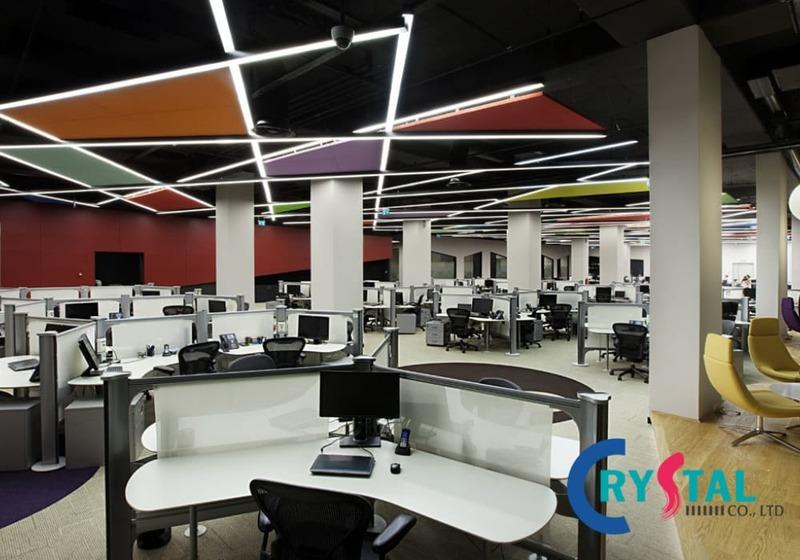 văn phòng không gian mở trong kiến trúc - Crystal Design TPL