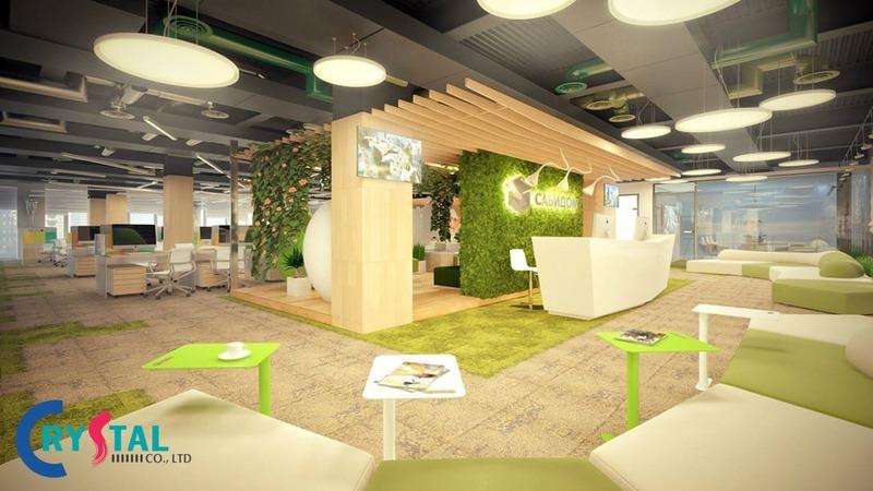 văn phòng không gian xanh thân thiện - Crystal Design TPL