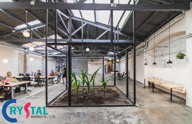 văn phòng làm việc hiện đại - Crystal Design TPL