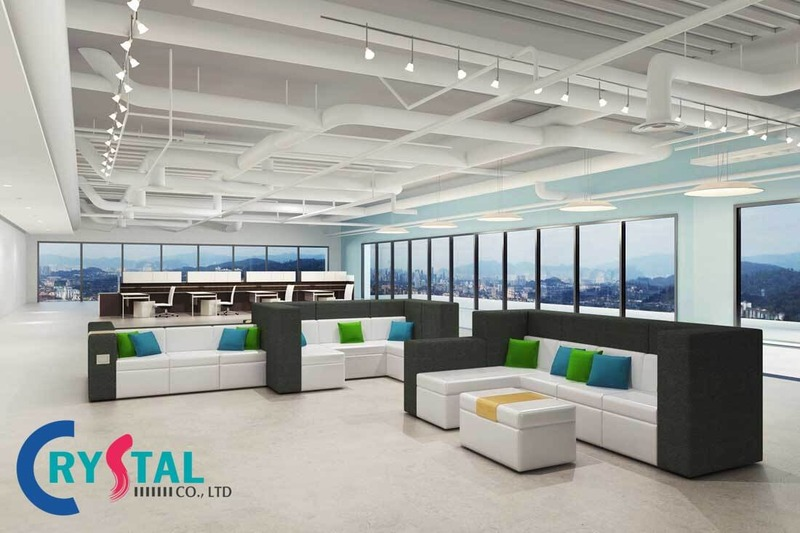văn phòng thiết kế đẹp - Crystal Design TPL