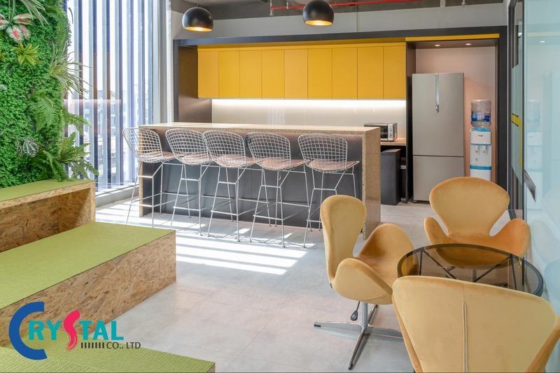 văn phòng thiết kế nội thất đẹp - Crystal Design TPL