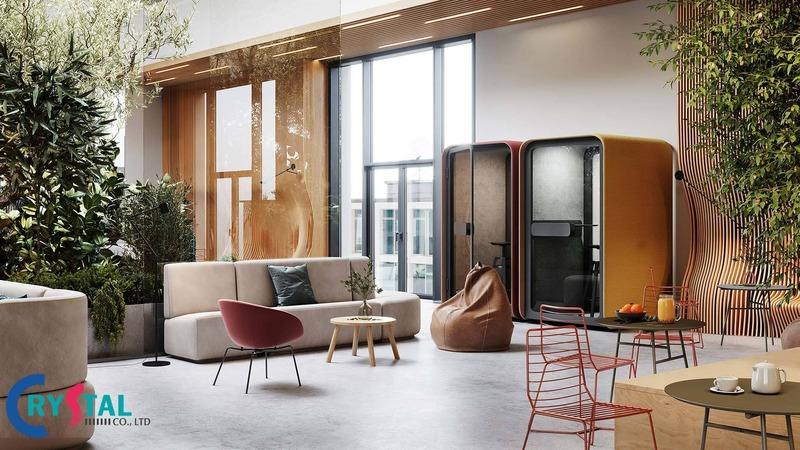 Mẫu thiết kế nội thất văn phòng cho phòng nghỉ của nhân viên đẹp nhất