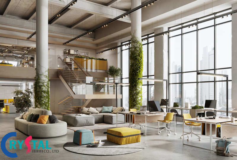 Mẫu thiết kế nội thấtkết hợp với các yếu tố tự nhiên như ánh sáng một cách hài hòa để bạn tham khảo