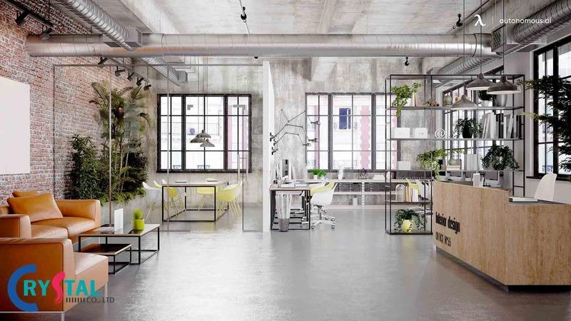 văn phòng xanh thân thiện - Crystal Design TPL