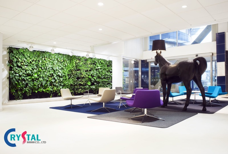Thiết kế bức tường xanh phù hợp cho mọi diện tích văn phòng