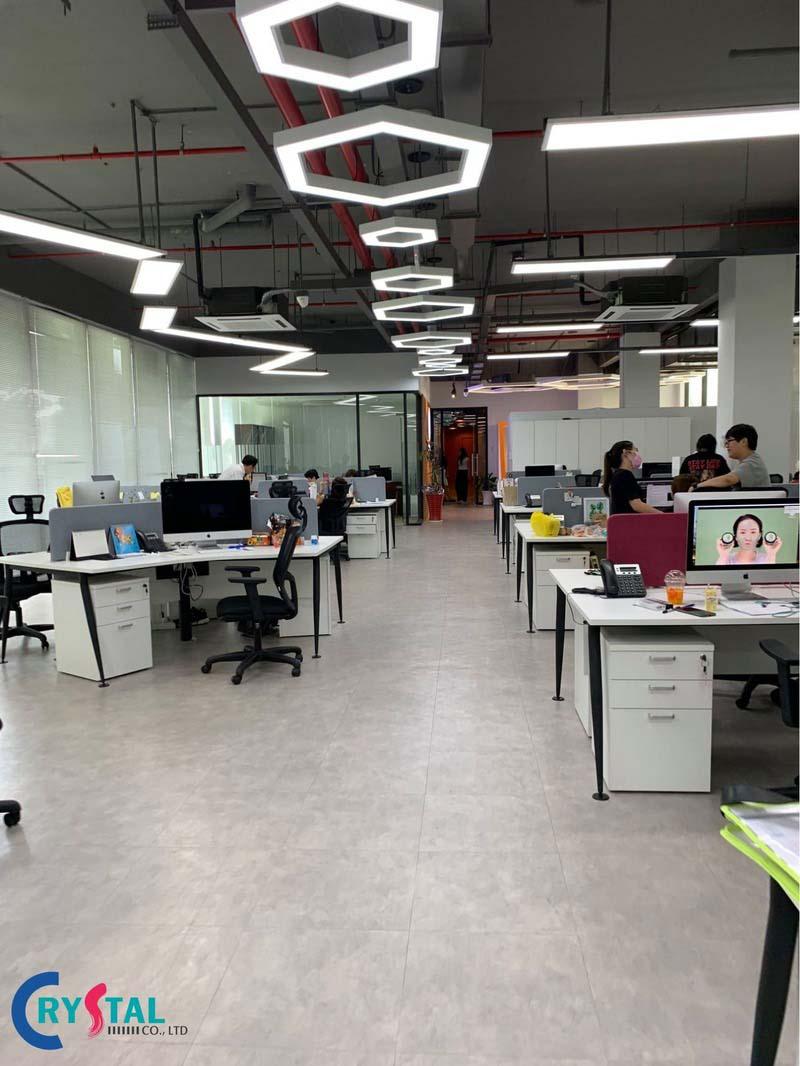 xây dựng mô hình văn phòng hiện đại - Crystal Design TPL