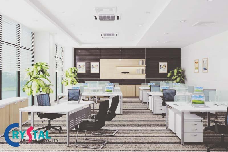 xu hướng thiết kế nội thất văn phòng - Crystal Design TPL