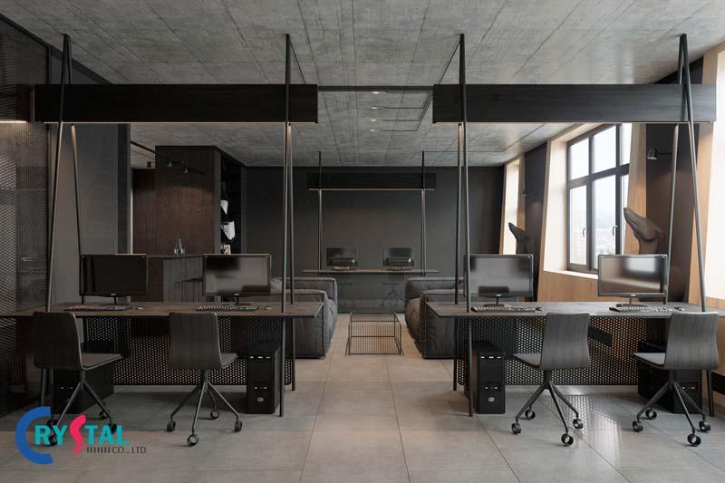 xu hướng thiết kế thi công văn phòng mới nhất - Crystal Design TPL