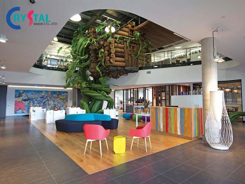 ý tưởng decor văn phòng như ở nhà