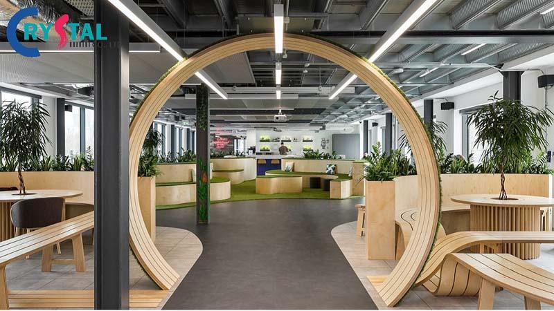ý tưởng nội thất văn phòng đẹp - Crystal Design TPL
