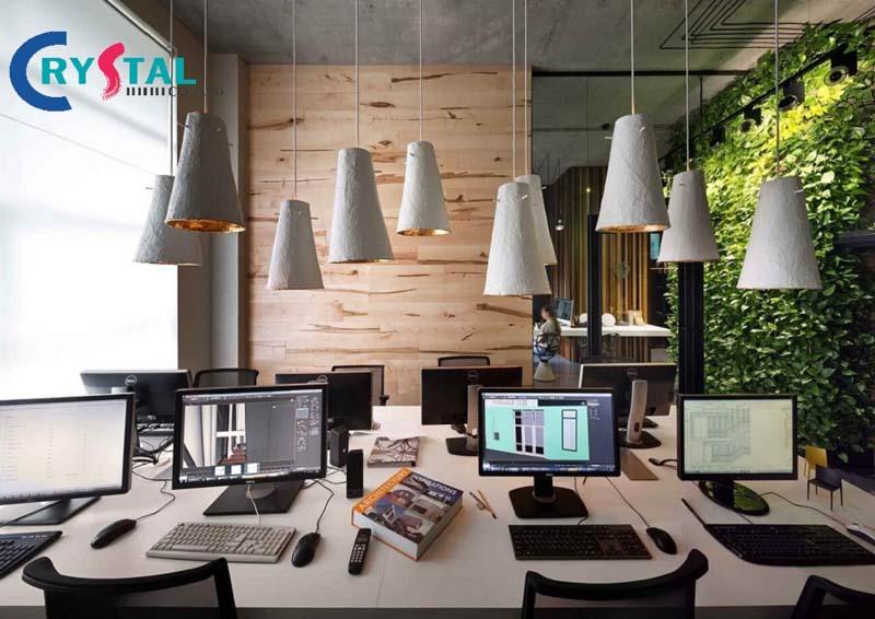 ý tưởng thi công văn phòng đẹp - Crystal Design TPL