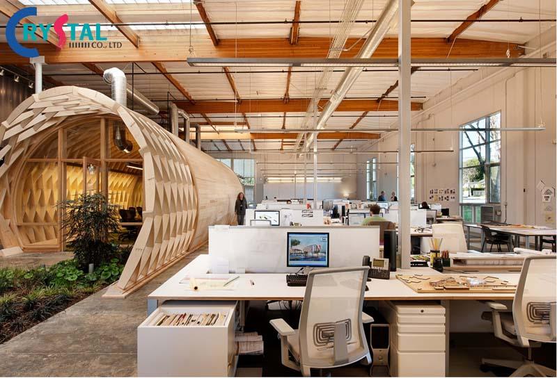 ý tưởng thi công văn phòng hiện đại