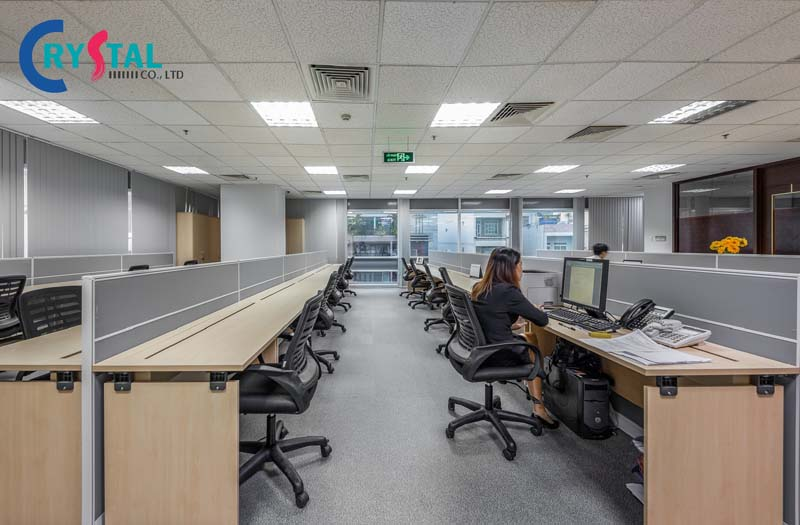 ý tưởng thiết kế ánh sáng văn phòng - Crystal Design TPL