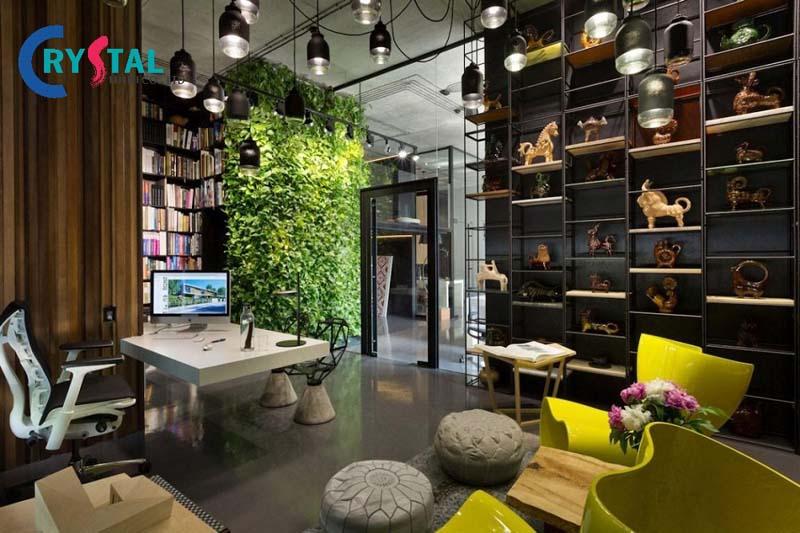 ý tưởng thiết kế và thi công nội thất văn phòng - Crystal Design TPL